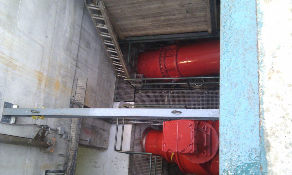 travaux sur centrale hydroélectrique