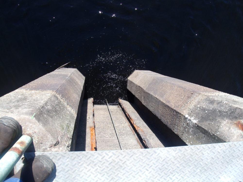 Contrôle sur barrage de Port Melin Groix